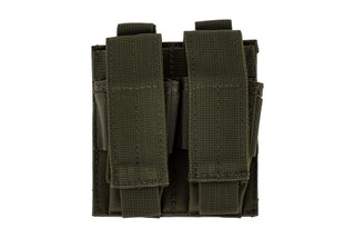 The Red Rock Outdoor Gear Double Pistol Magazine Pouch comes in Olive Drab Green