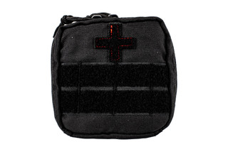 The Red Rock Outdoor Gear Soldier First Aid Kit is made from durable black Nylon material