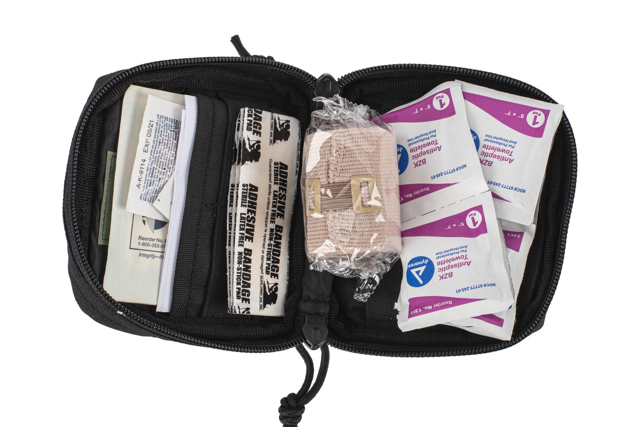The Red Rock Gear Soldier Individual Medkit comes with a ton of different first aid supplies