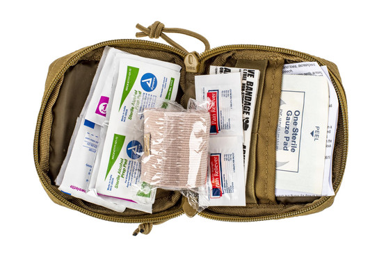 The Red Rock Outdoors Soldier Medical Kit comes with a multitude of first aid supplies