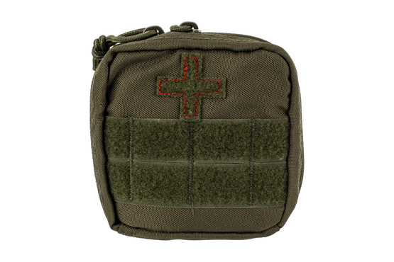 The Red Rock Outdoor Gear Soldier Individual First Aid Kit comes in Olive Drab Green Nylon