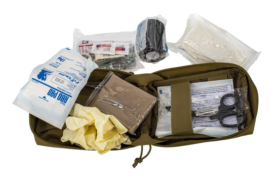 The Red Rock Gear Tactical Medical Kit opens wide for easy access to the contents