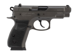 Tristar C-100 9mm compact pistol features a tungsten grey finish