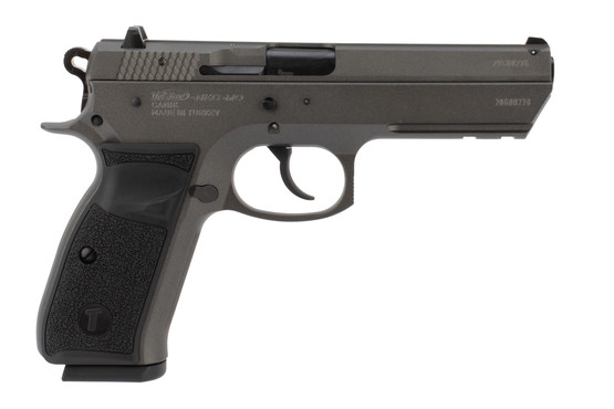 Tristar T-120 9mm pistol features a tungsten grey finish