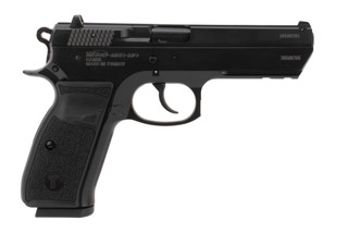 Tristar T-120 9mm pistol features a black finish