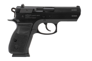 Tristar T100 9mm pistol features a black finish