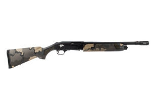 Mossberg 930 thunder ranch shotgun features a camo stock and forend