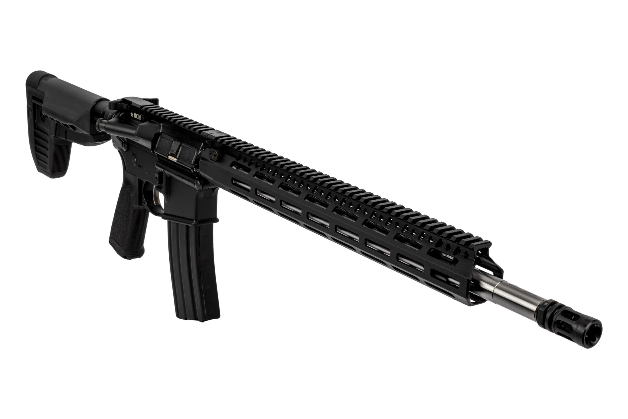 BCM RECCE-18 Precision rifle features the MCMR free float M-LOK handguard