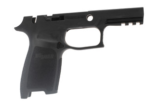 Sig Sauer medium carry black grip with manual safety for P250 / P320 9mm has a durable polymer frame