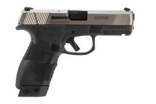 Mossberg MC2c 0mm compact pistol features a stainless steel slide