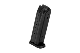 The Ruger SR9 magazine holds 17 rounds of 9mm ammunition