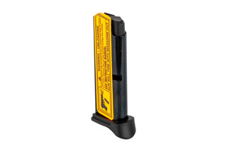 The Ruger LCP 6 round magazine comes with a polymer grip extension