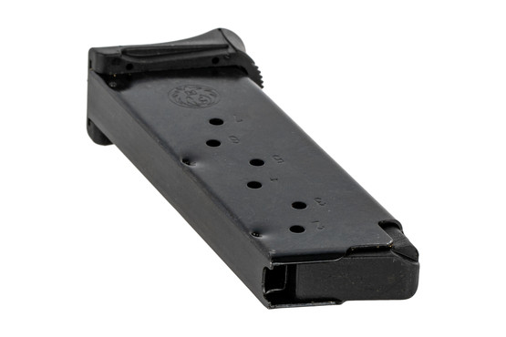 The Ruger LC380 7 round magazine features a stainless steel construction and side witness holes