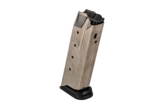 The Ruger American .45 Magazine holds 10 rounds of ammunition