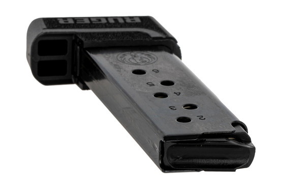 The Ruger LCP II .380 ACP Magazine features a black finish and side witness holes
