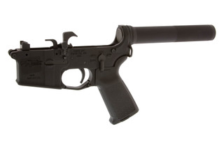 The CMMG 9mm AR9 complete lower receiver assembly is compatible with Colt magazines