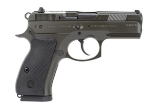 P01 Compact 9mm Pistol from CZ has a matte polycoat finish and polymer frame
