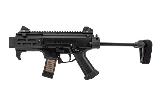 CZ USA Scorpion Evo Micro features a magpul M-LOK handstop and M-LOK handguard
