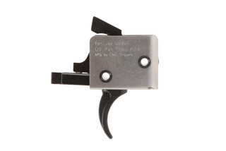 The CMC Triggers drop in trigger kit for ar15 and ar10 has a curved trigger bow