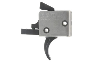 The CMC ar15 ar10 Drop-In Two Stage 4lb Curved Trigger fits in Mil-Spec lower receivers with .154 inch pins