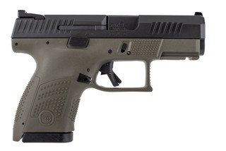 CZ P10 S Sub Compact 9mm pistol with OD green frame