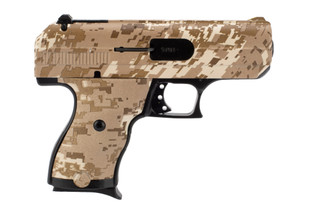 hi-point C9 pistol in desert camo.