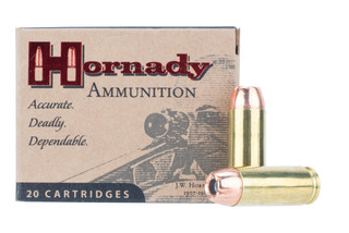 Hornady Custom .50 AE 300Gr XTP HP ammo features brass casing with a lead core