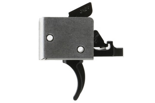 The CMC AR-15 AR-10 Drop-In two Stage 2lb Set 2lb Release Curved Trigger fits in Mil-Spec lower receivers with .154in pin
