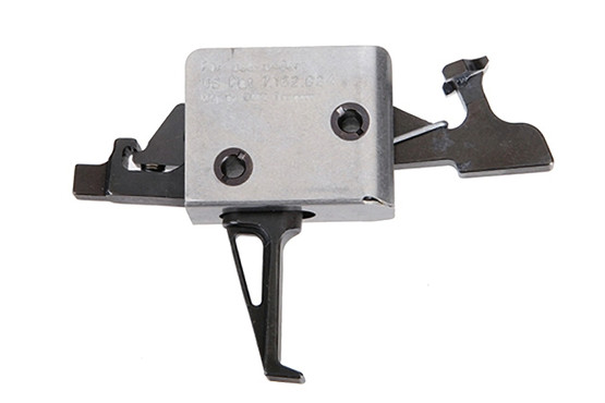 The CMC ar15 ar10 Drop-In Two Stage 2lb Set 2lb Release Flat Trigger fits in Mil-Spec receivers and is made from steel