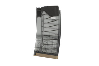 Lancer Systems L5 AWM 20-Round AR-15 Magazine with steel feed lips and translucent smoke body for 300 BLK
