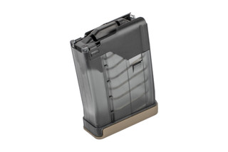 Lancer Systems L5 AWM hybrid magazine for the AR-15 specifically designed for 300 BLK features a translucent smoke body