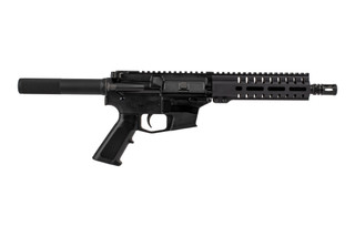 The CMMG Banshee 100 MkGs 9mm glock style AR Pistol features an 8 inch barrel and radial delayed blowback system