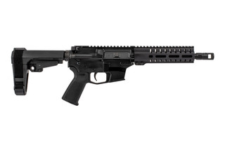The CMMG Banshee 200 MkGs 9mm Glock Style AR pistol comes with the RipBrace already installed