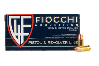 Fiocchi 9mm 124 Grain Jacketed Hollow Point ammo are boxer primed with a brass casing