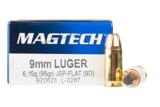 Magtech 9mm ammo features a flat point bullet