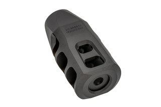 Precision Armament M11 Severe Duty muzzle brake is 5/8x24 threaded for 6.5 Creedmoor with black finish.