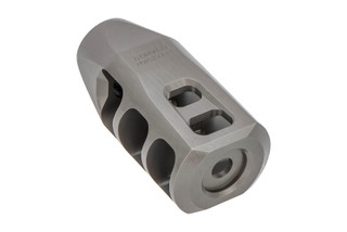 Precision Armament M11 Severe Duty muzzle brake is 5/8x24 threaded for 6.5 Creedmoor with stainless finish.