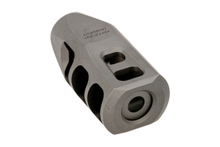 Precision Armament M11 Severe Duty muzzle brake is 5/8x24 threaded for 7.62 NATO with stainless finish.
