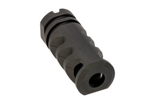 Precision Armament M4-72 Severe Duty muzzle brake is 14x1mm LH threaded for 7.62 with black finish.
