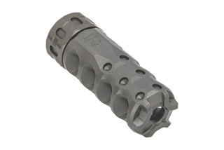 Precision Armament HYPERTAP 7.62 NATO Muzzle Brake with 18x1mm threading with stainless finish.