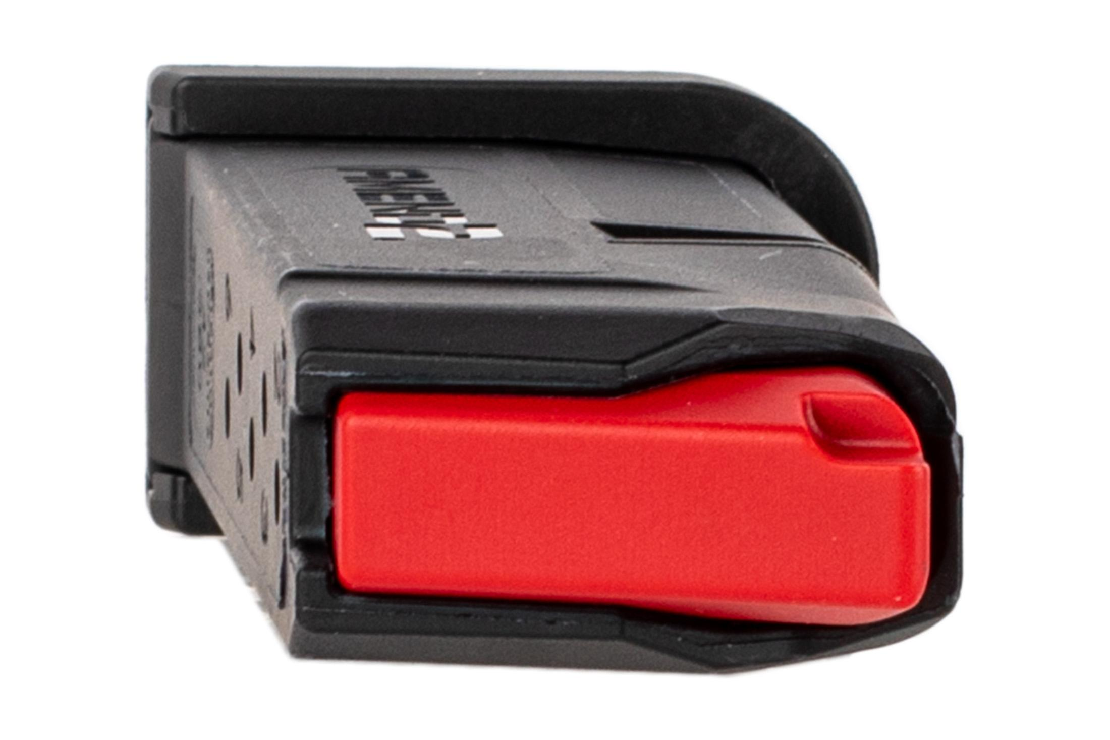 Amend2 Glock 42 magazine features a black polymer construction