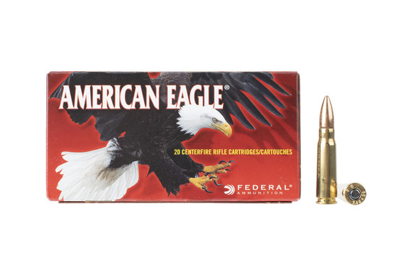 American Eagle 7.62x39mm 124gr full metal jacket ammunition is affordable brass cased ammo perfect for plinking or training