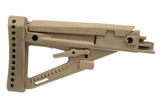 ProMsg Archangel AK-series OPFOR polymer buttstock in desert tan is 922(r) compliant and backed by a lifetime warranty.