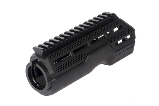 AB Arms Drop-in MOD1 black AR-15 handguard has a full length picatinny top rail