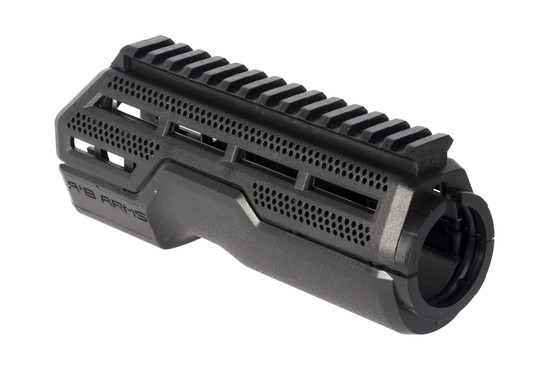 AB Arms MOD1 black handguard is compatible with Light to Fight rails and MOE accessories