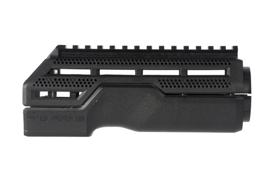 AB Arms MOD1 carbine length black handguard has an ergonomic design