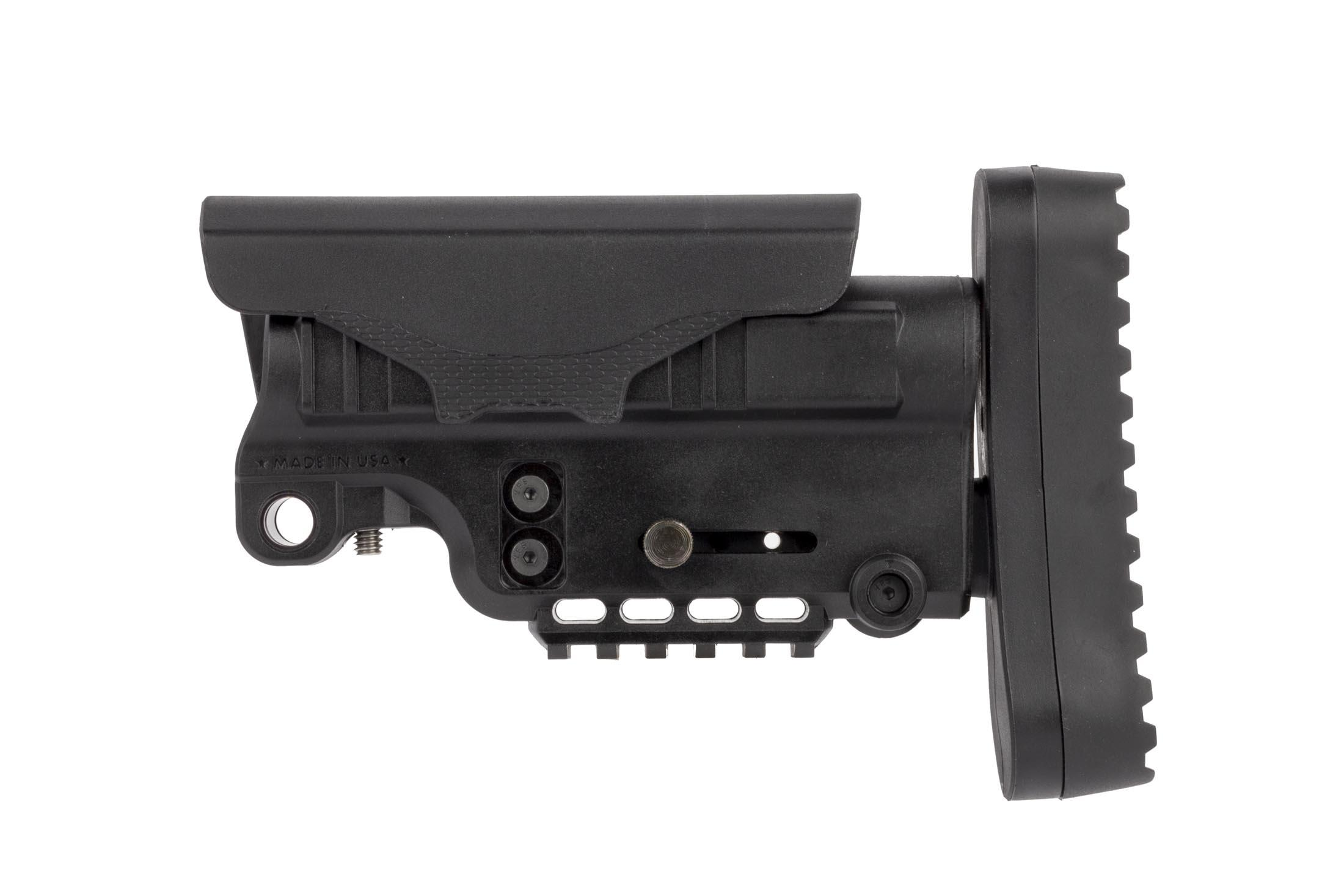 The American Built Arms Company urban stock features an ambidextrous QD sling swivel