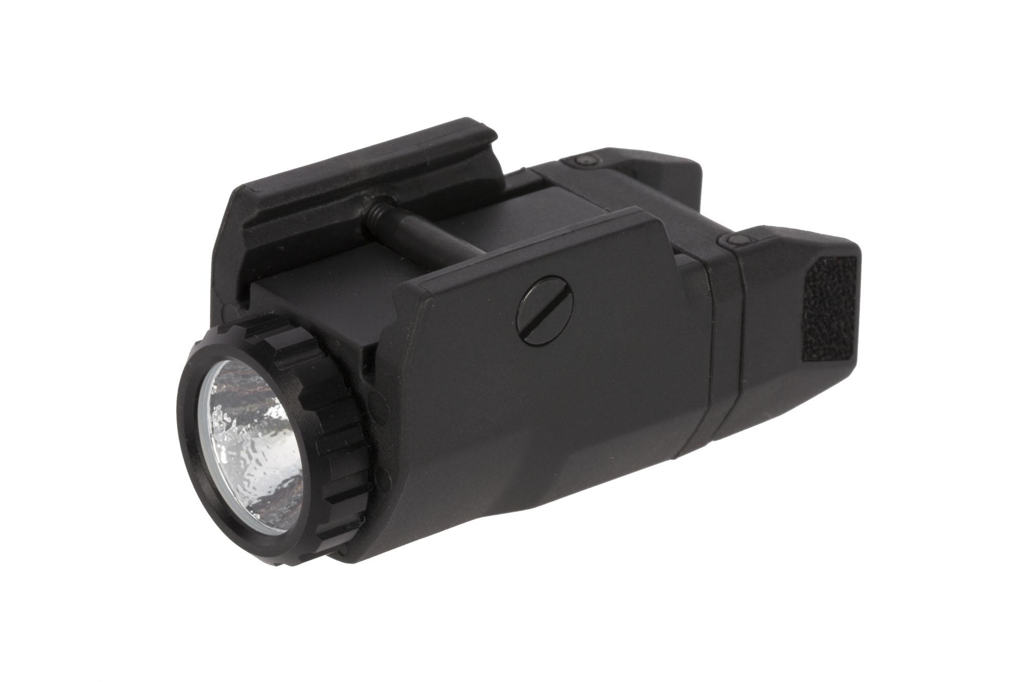 This Inforce pistol light features ambidextrous textured activation switches that are easy to reach