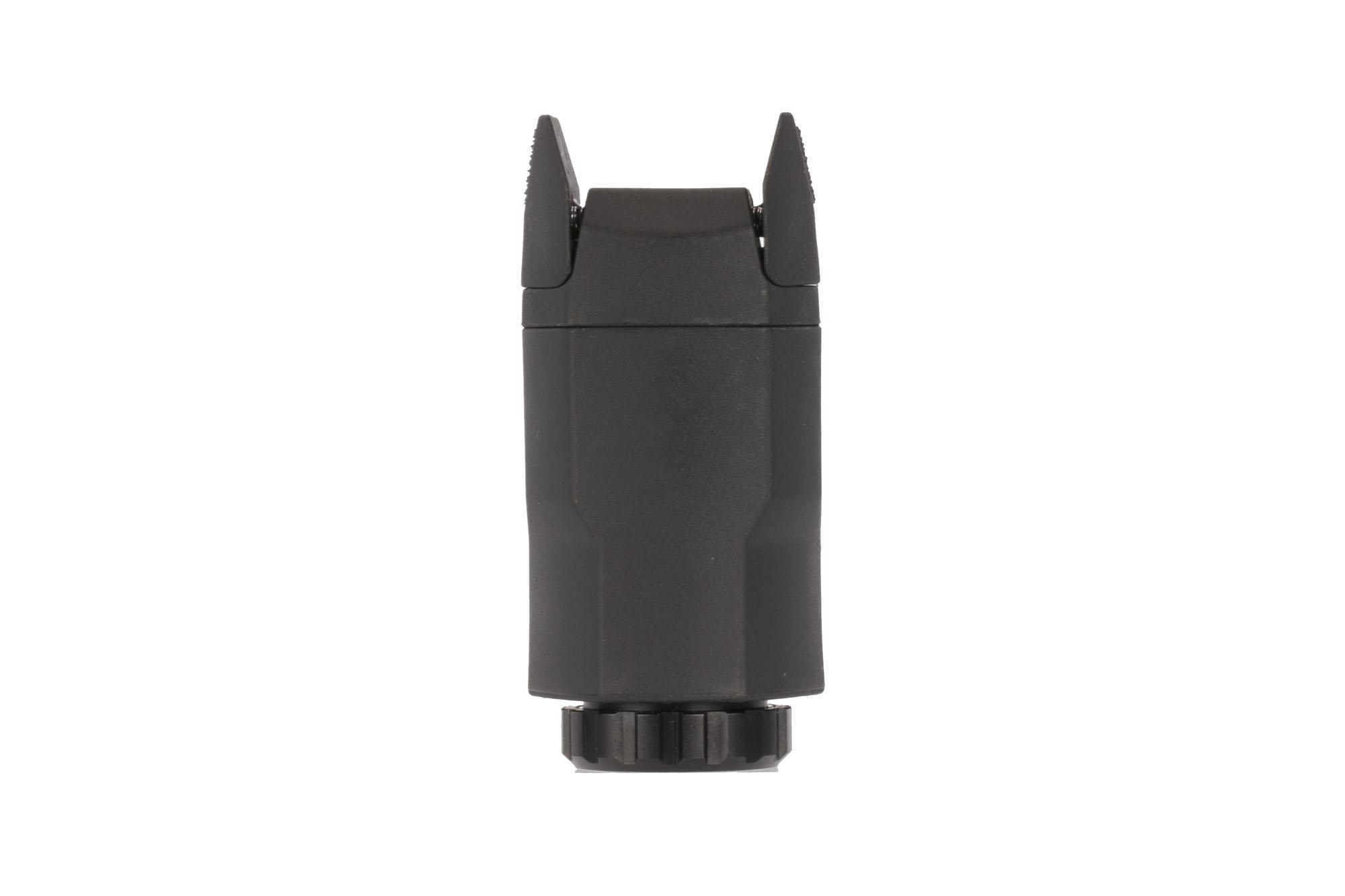 The aplc compact pistol mounted light is flush mounted with a large variety of handguns