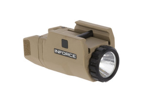 The Inforce APLc FDE compact pistol light is compatible with a large variety of handguns